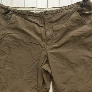 COLUMBIA Taupe Hiking Capris Adjustable Waist XL